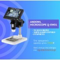Andowl Q-XW01 Portable Digital Electron Screen Microscope HD 1000X Magnification LED Light TV - Gadget