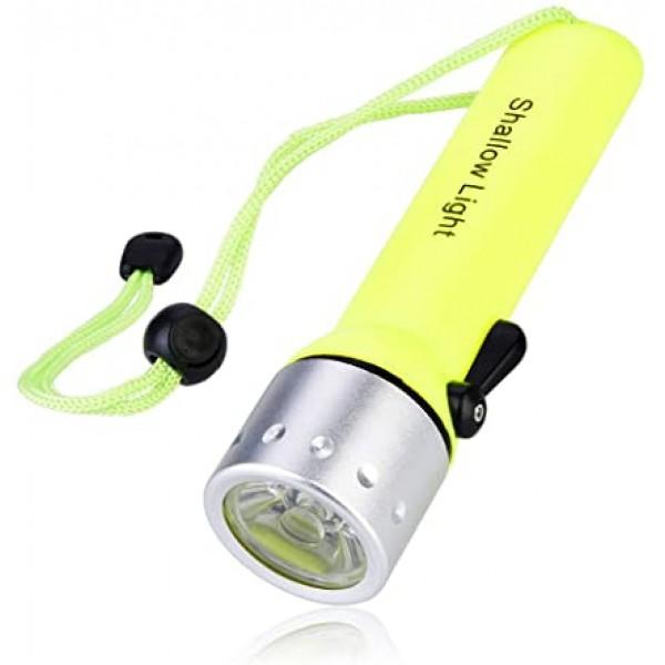Lightweight Diving Flashlight Professional Flashlight for Diving 180 Lumen Brightness LED Flashlight White TV - Gadget