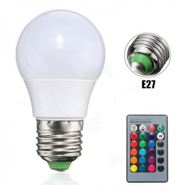 Led Λάμπα RGB με Τηλεχειριστήριο, Εναλλαγή 16 Χρωμάτων & Λευκό Φως - Remote Control LED Colorful Lamp Gadgets